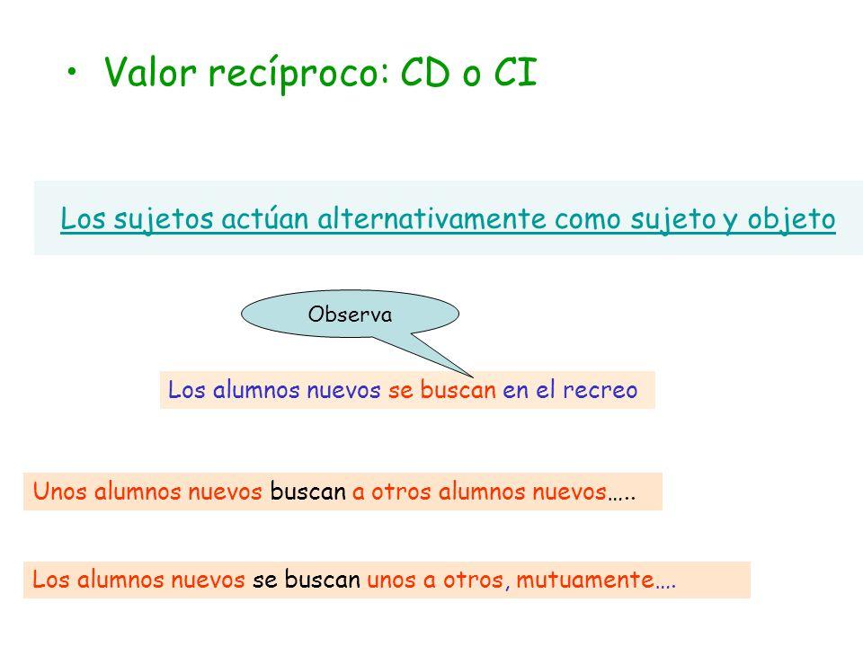 Estamos frente a un SE Recíproco Al ser plural, los sujetos se alternan en la función de objetos de la acción.