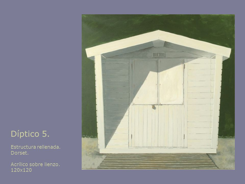 Díptico 5. Estructura rellenada. Dorset. Acrílico sobre lienzo. 120x120