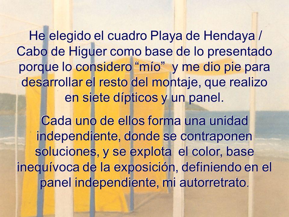 He elegido el cuadro Playa de Hendaya / Cabo de Higuer como base de lo presentado porque lo considero mío y me dio pie para desarrollar el resto del m