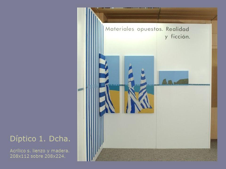 Díptico 1. Dcha. Acrílico s. lienzo y madera. 208x112 sobre 208x224.
