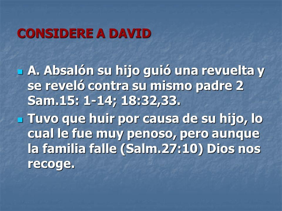 CONSIDERE A DAVID A.