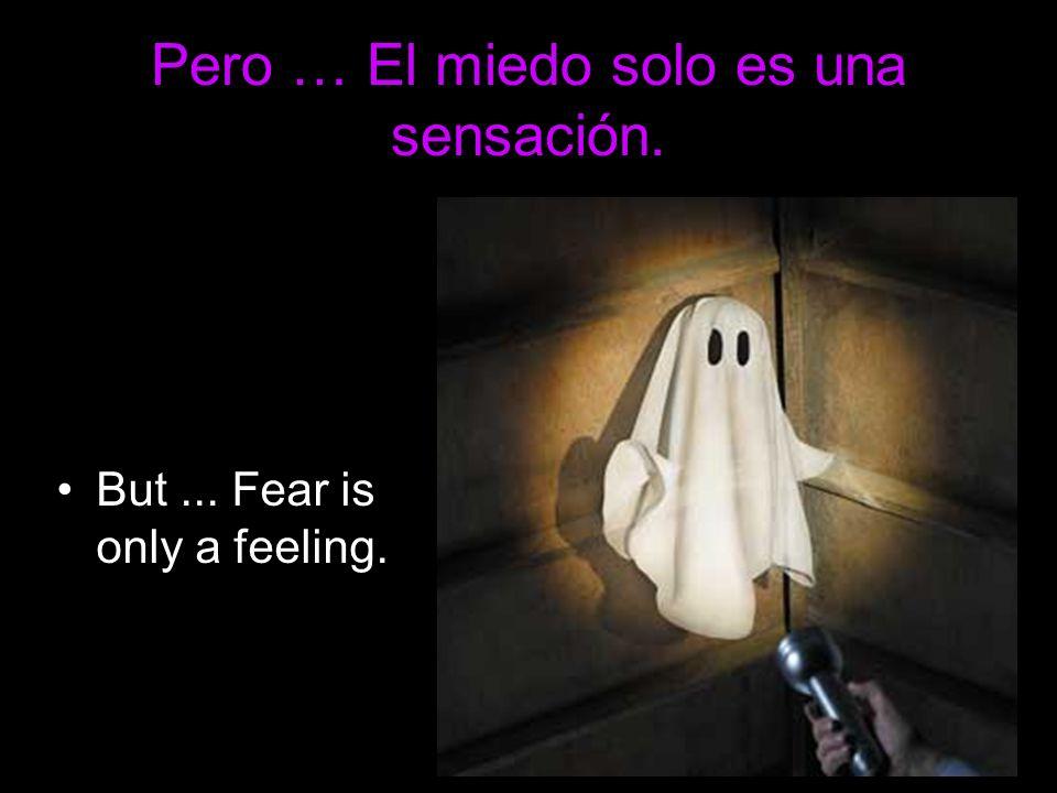 Pero … El miedo solo es una sensación. But... Fear is only a feeling.