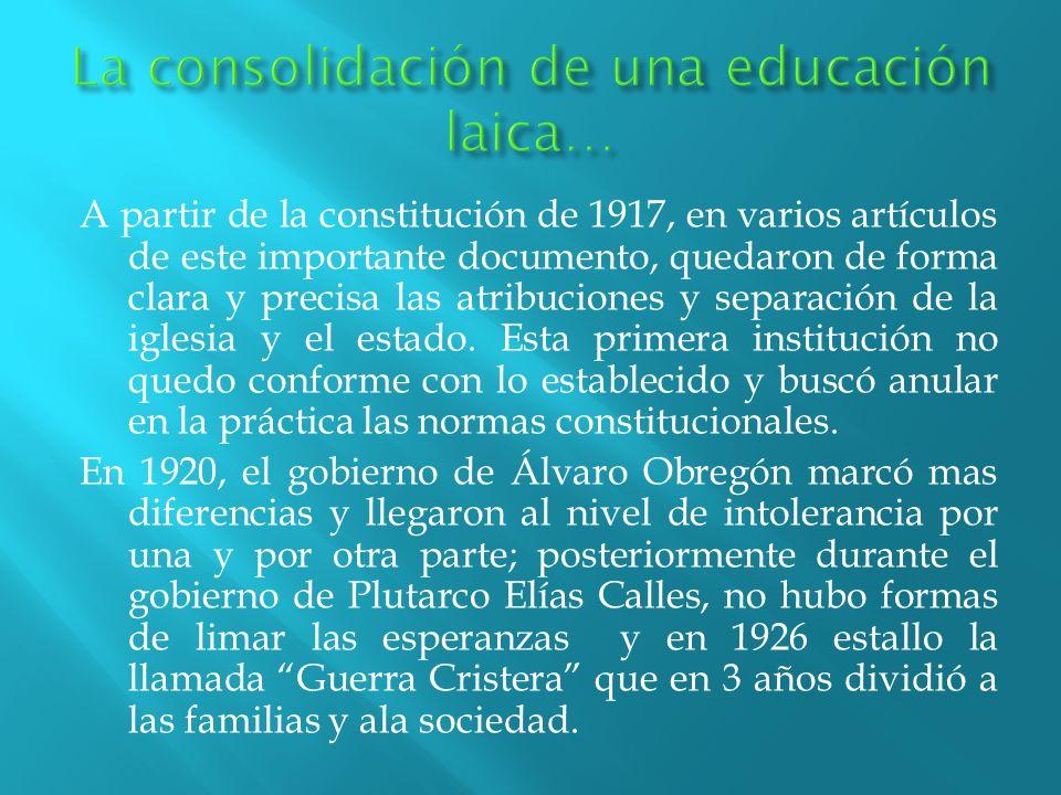A partir de la constitución de 1917, en varios artículos de este importante documento, quedaron de forma clara y precisa las atribuciones y separación