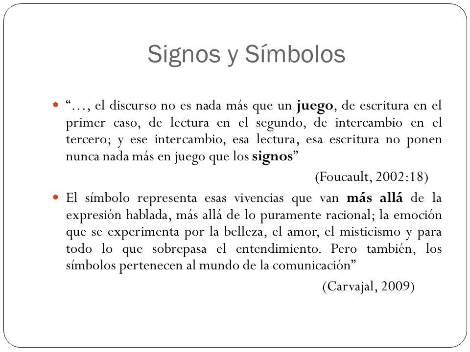 Signos y Símbolos …, el discurso no es nada más que un juego, de escritura en el primer caso, de lectura en el segundo, de intercambio en el tercero;