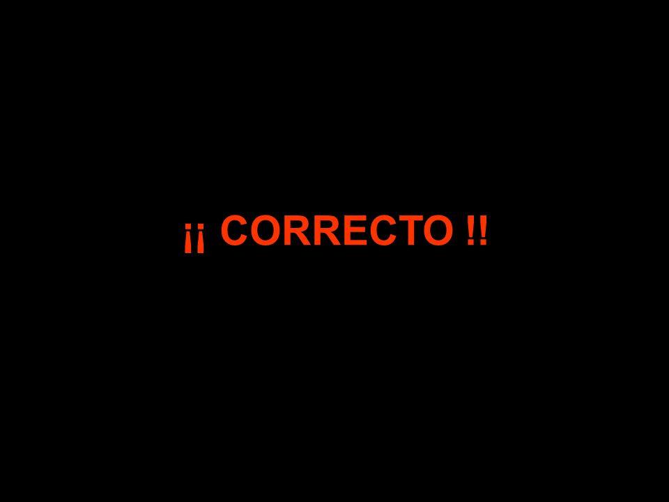 ¡¡ CORRECTO !!