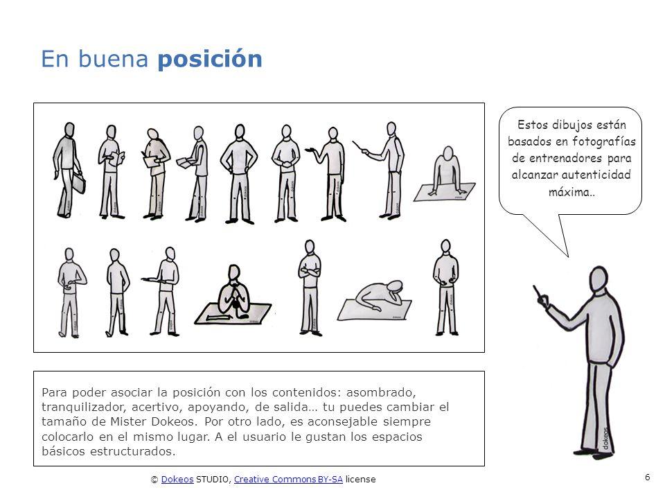 © Dokeos STUDIO, Creative Commons BY-SA licenseDokeosCreative Commons BY-SA 6 En buena posición Para poder asociar la posición con los contenidos: aso