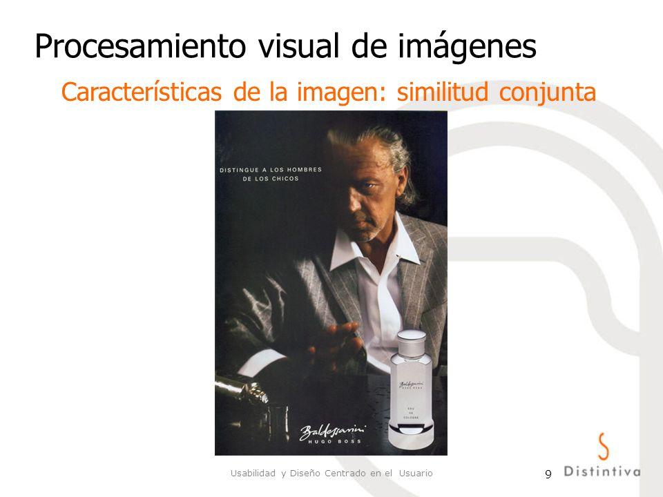 Usabilidad y Diseño Centrado en el Usuario 10 Procesamiento visual de imágenes Características de la imagen: similitud conjunta