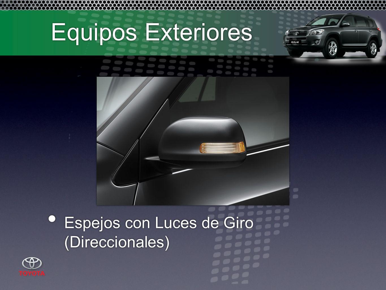 Equipos Exteriores Espejos con Luces de Giro (Direccionales)