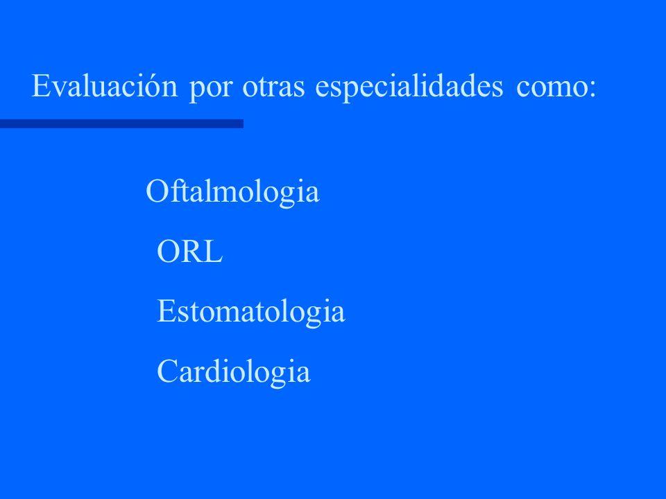 Diagnóstico Anamnesis Examen físico Exámenes de laboratorio indispensables Exámenes imagenológicos Evaluación por otras especialidades