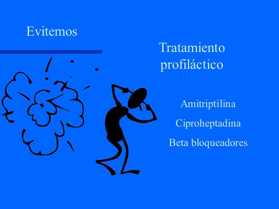 Dosis de los medicamentos: - Preparaciones ERGOT: Ergotamina 1 a 2 mg inicio; 2mg a la hora; no + 6 mg Dihidroergot. Spray nasal Sumatriptán 6 mg SC c