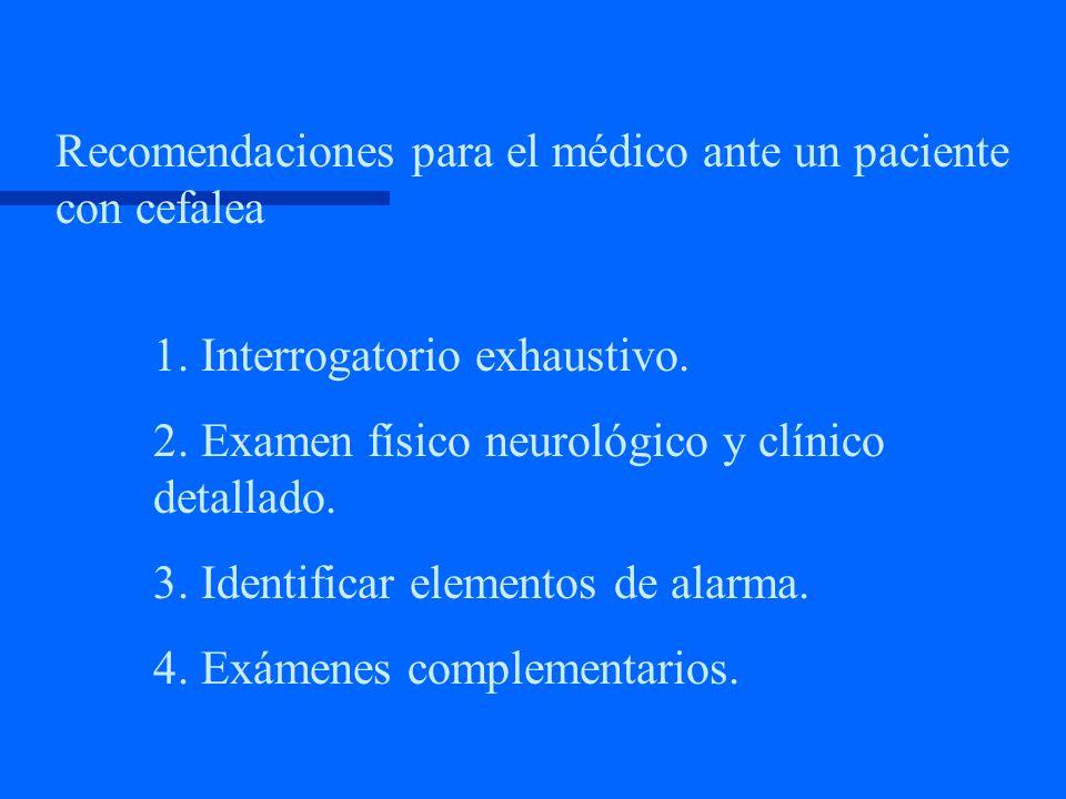 Según evolución en el tiempo Cefalea aguda Cefalea crónica.