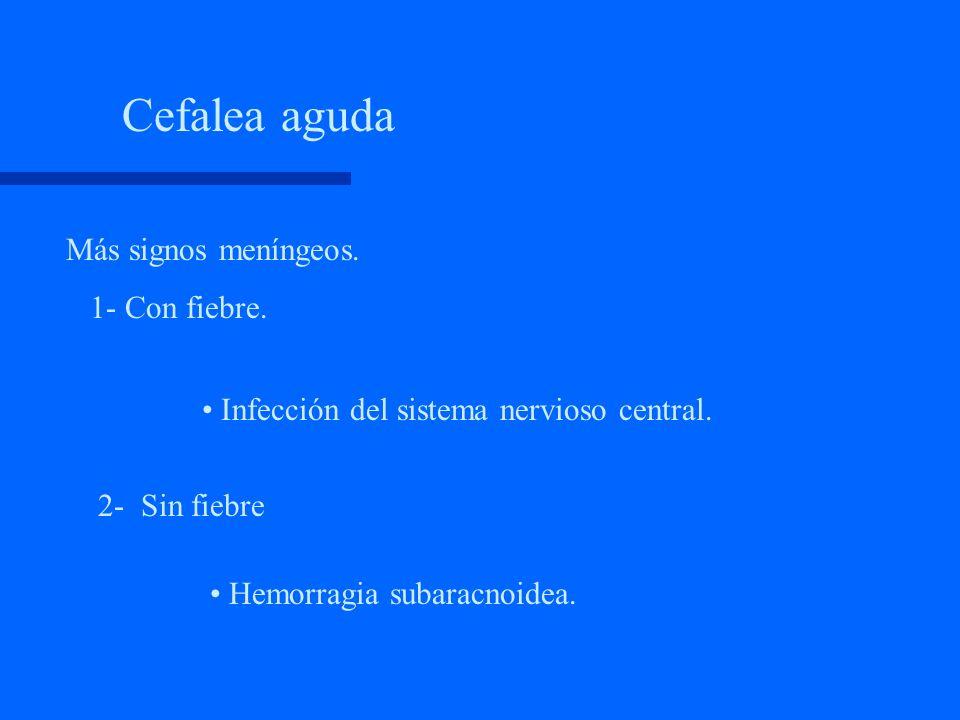 Recomendaciones para el médico ante un paciente con cefalea 1. Interrogatorio exhaustivo. 2. Examen físico neurológico y clínico detallado. 3. Identif