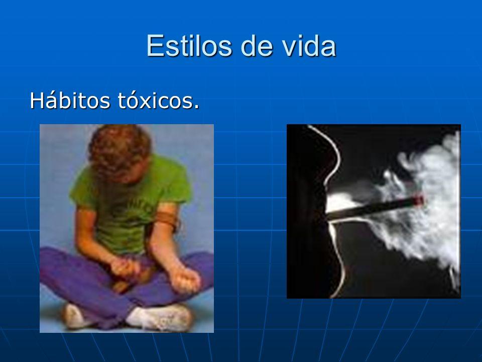 Estilos de vida Hábitos tóxicos.