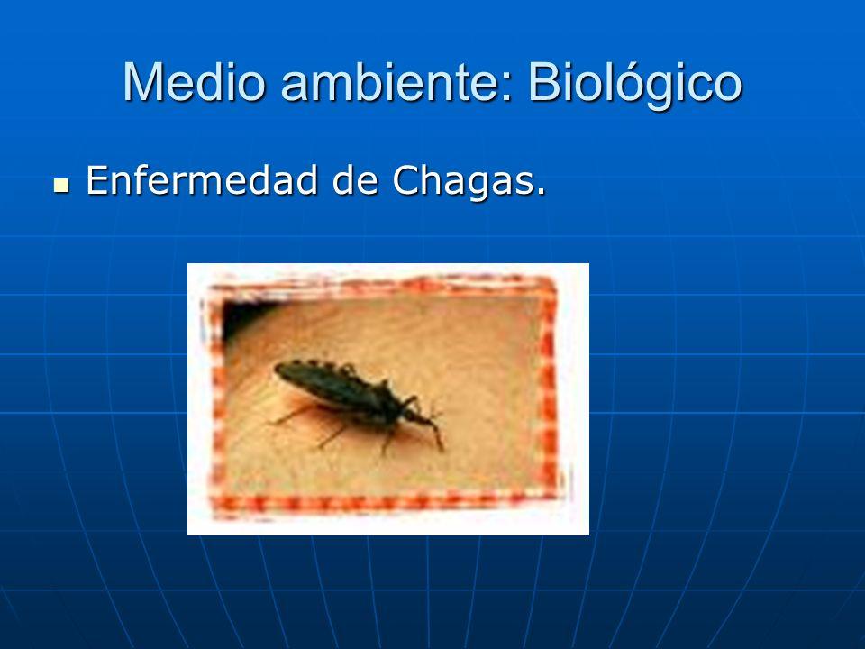 Medio ambiente: Biológico Enfermedad de Chagas. Enfermedad de Chagas.