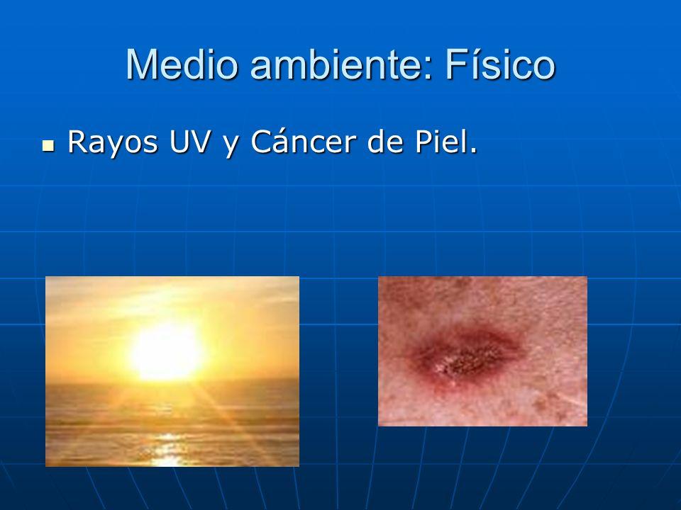 Medio ambiente: Físico Rayos UV y Cáncer de Piel. Rayos UV y Cáncer de Piel.