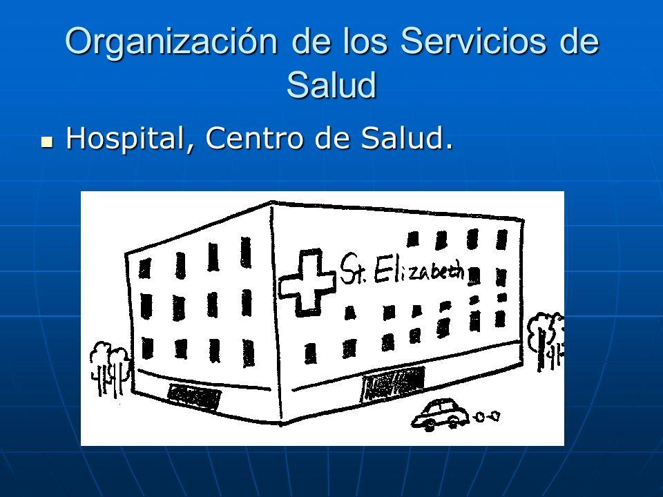 Organización de los Servicios de Salud Hospital, Centro de Salud. Hospital, Centro de Salud.