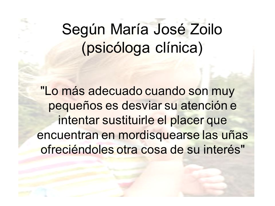 Según María José Zoilo (psicóloga clínica)