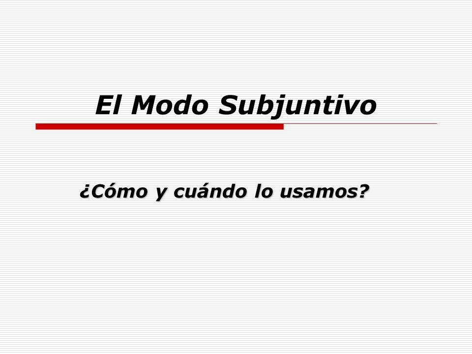Cláusula Principal QUE Cláusula Subordinada (verbo 1)(Verbo 2) Indicativo Verbo especial Sujeto diferente.