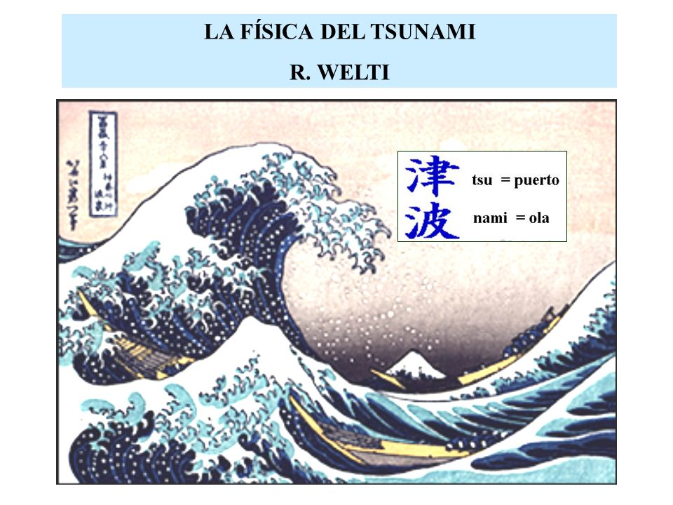 LA FÍSICA DEL TSUNAMI R. WELTI