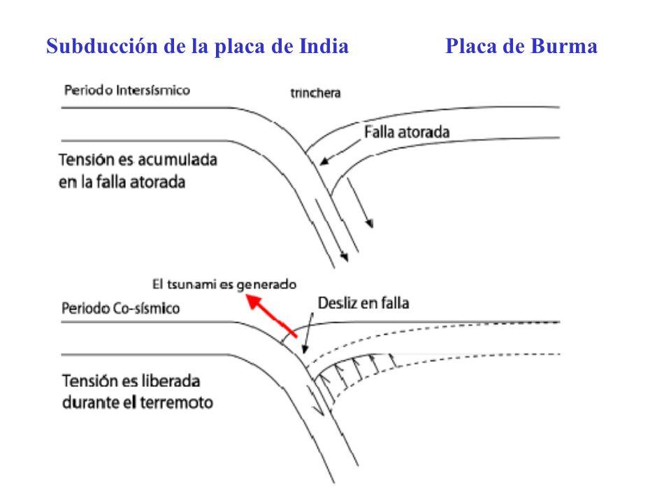 Subducción de la placa de India Placa de Burma
