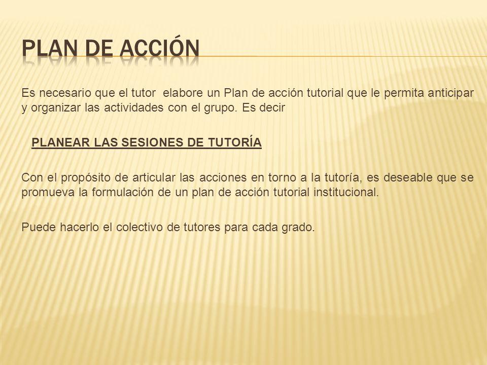 ETAPAS PARA LA ELABORACIÓN DEL PLAN DE ACCIÓN TUTORIAL 1.