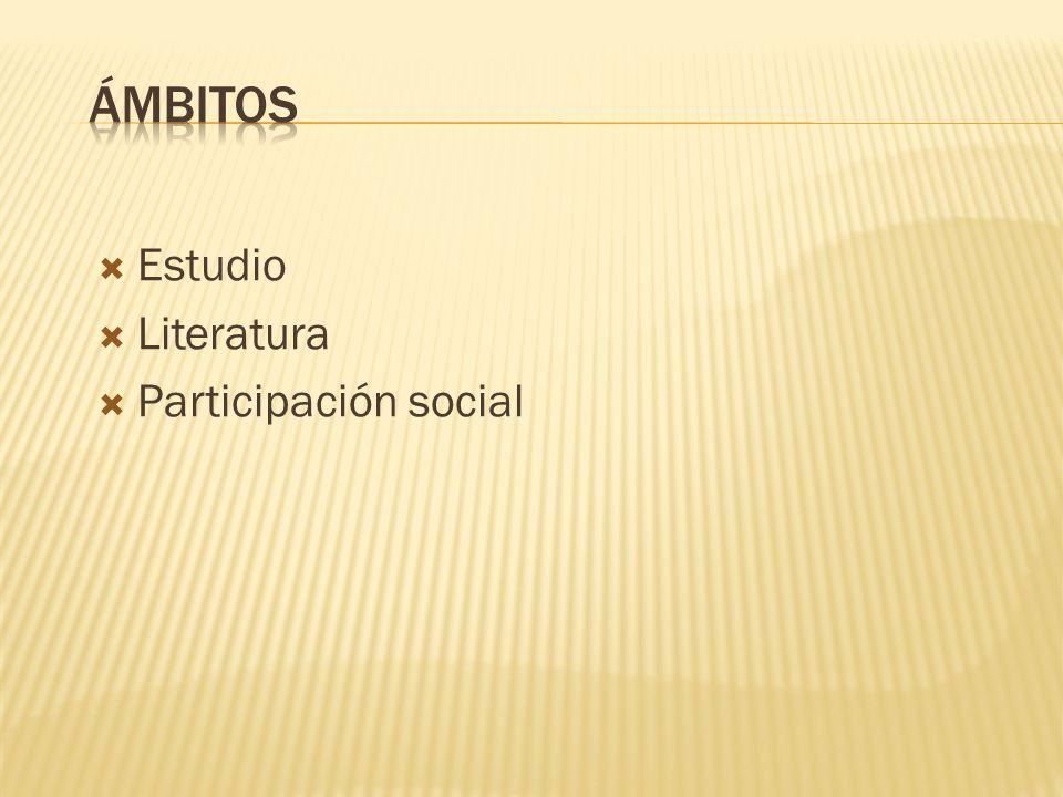 Estudio Literatura Participación social