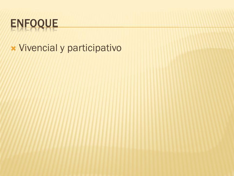 Vivencial y participativo