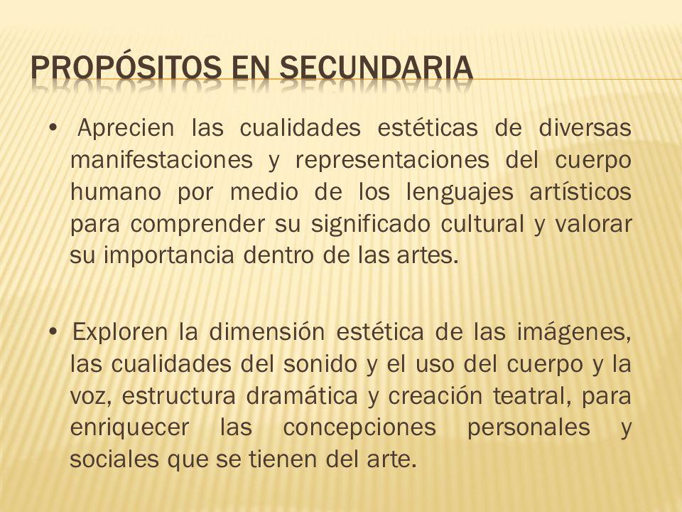 Aprecien las cualidades estéticas de diversas manifestaciones y representaciones del cuerpo humano por medio de los lenguajes artísticos para comprend