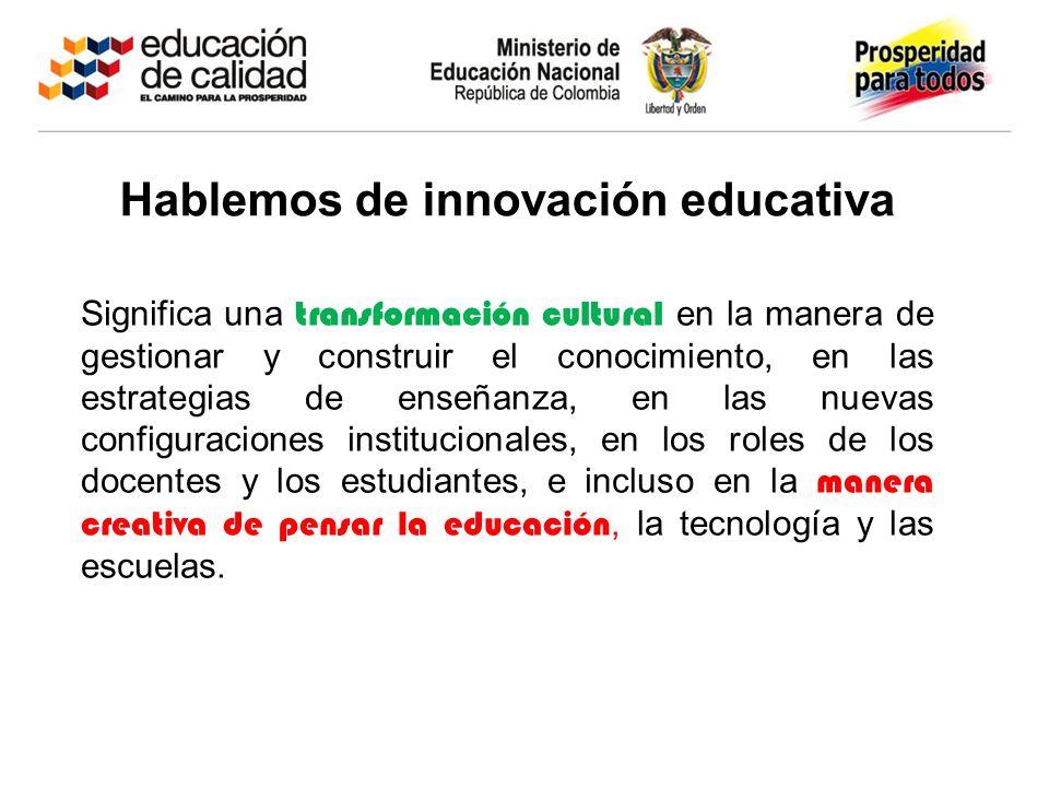 ¿Para qué innovar en educación?