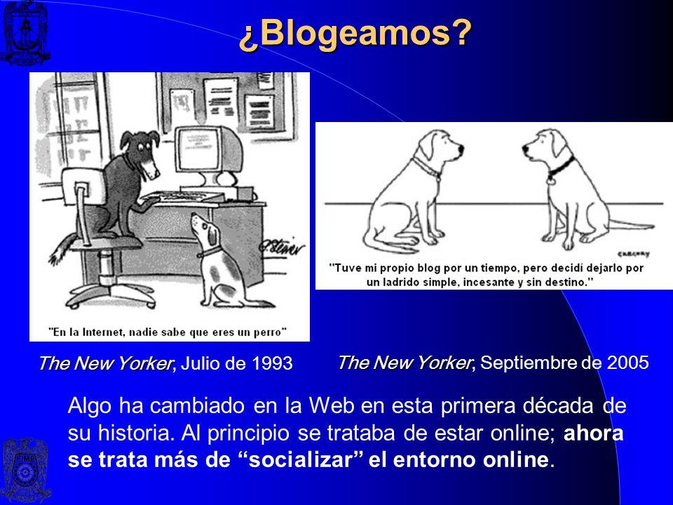Blogs o Bitácoras, ¿qué son? Un blog es cualquier cosa que se parezca a un blog (Víctor Ruíz). Un multiformato de publicación en la Web (Fernando Sáez