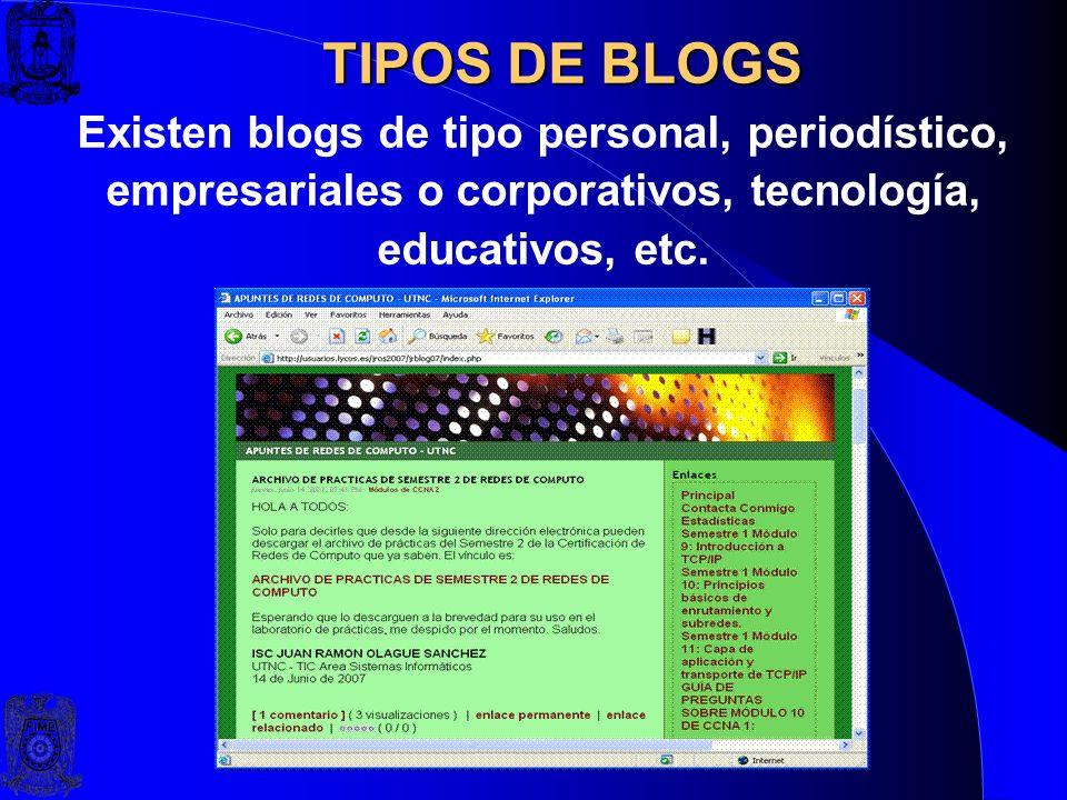 DEFINICIÓN DE BLOG Un weblog, blog o bitácora, es un sitio web periódicamente actualizado que recopila cronológicamente textos o artículos de uno o va