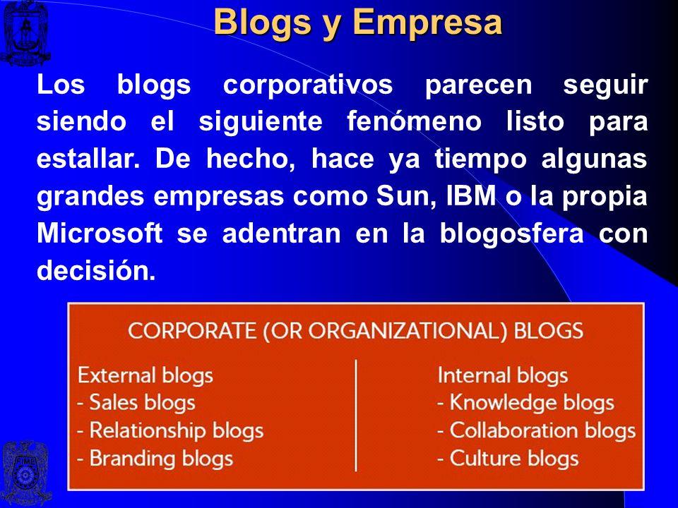 Blogs y Empresa Parece que algunas empresas quieren entrar en la conversación. De manera que incluyen los blogs entre su arsenal de herramientas de co