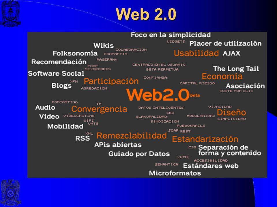 Web 2.0 Web 2.0 El término Web 2.0 fue acuñado por O'Reilly Media en 2004 para referirse a una segunda generación de Web basada en comunidades de usua
