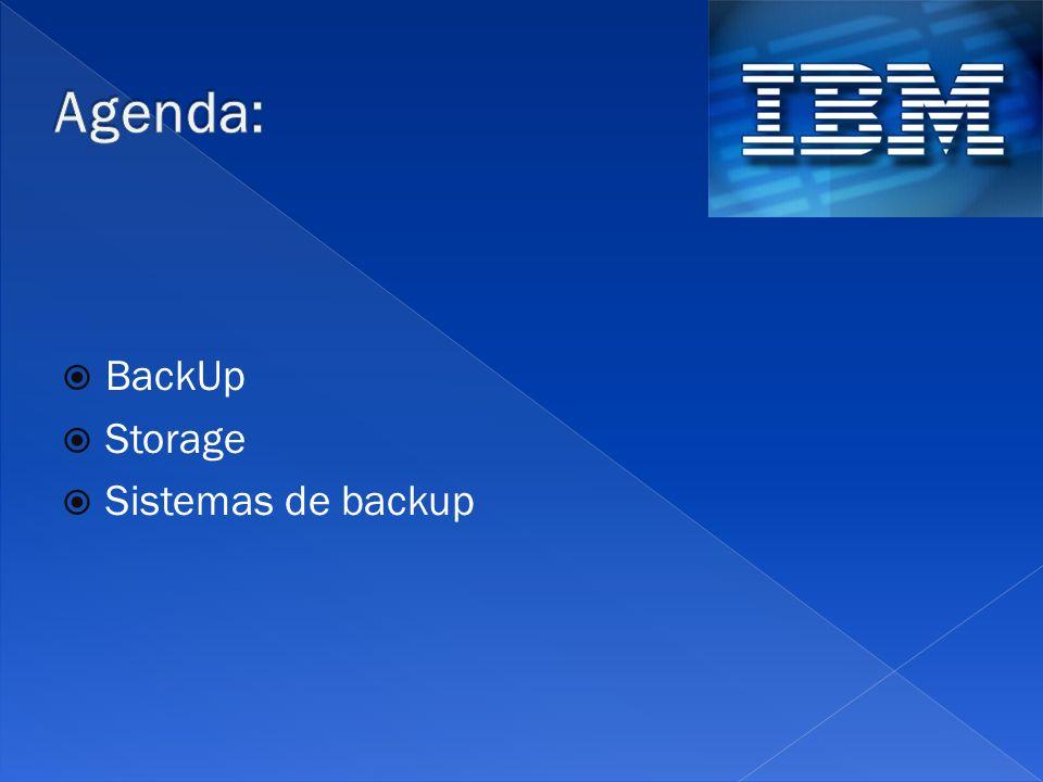 BackUp Storage Sistemas de backup