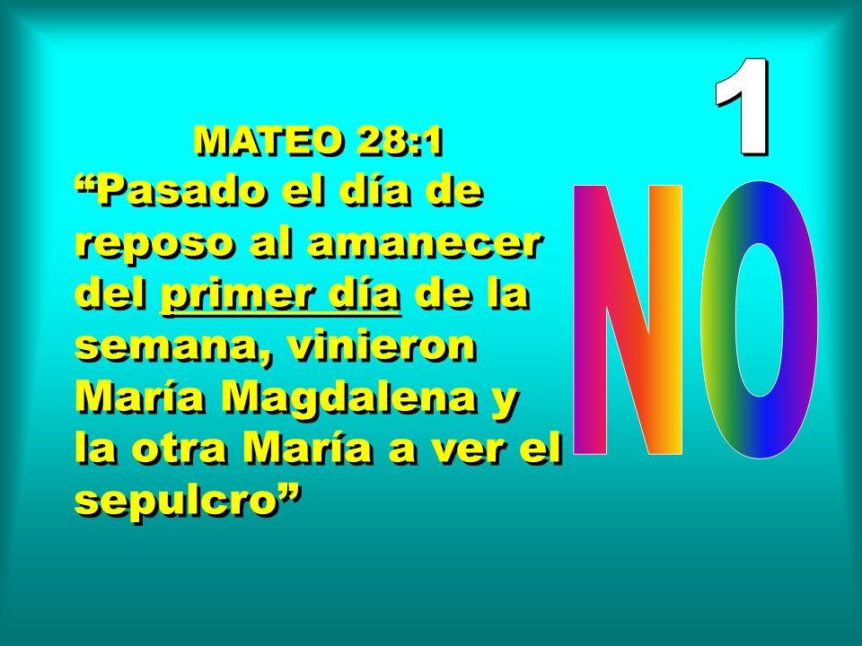 MARCOS 16:1,2 Cuando pasó el día de reposo...