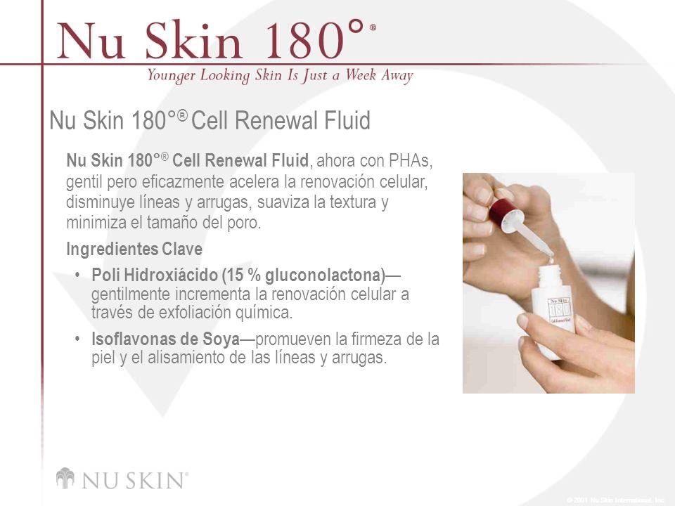 © 2001 Nu Skin International, Inc Nu Skin 180° ® Cell Renewal Fluid Nu Skin 180° ® Cell Renewal Fluid, ahora con PHAs, gentil pero eficazmente acelera