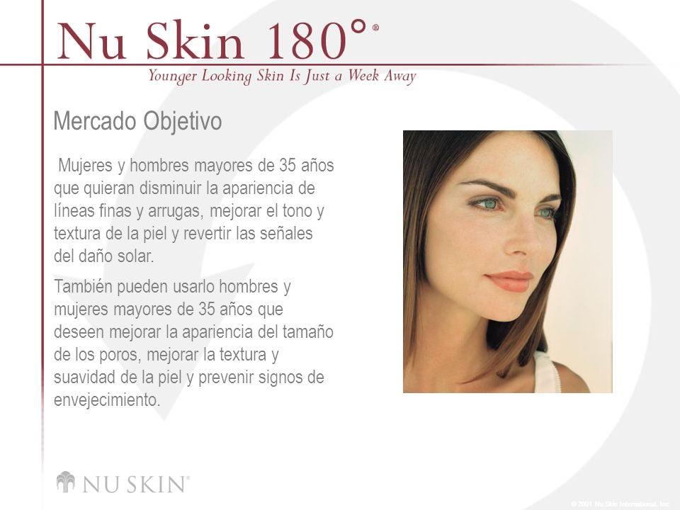 © 2001 Nu Skin International, Inc Mercado Objetivo Mujeres y hombres mayores de 35 años que quieran disminuir la apariencia de líneas finas y arrugas,