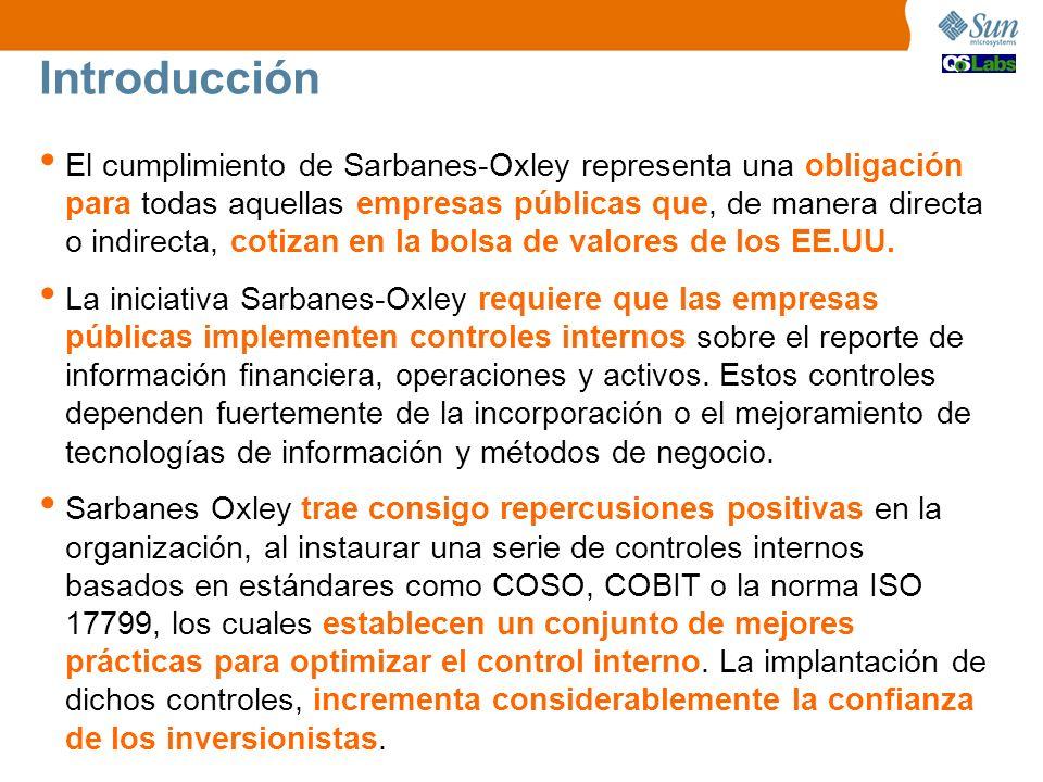 El cumplimiento de Sarbanes-Oxley representa una obligación para todas aquellas empresas públicas que, de manera directa o indirecta, cotizan en la bo