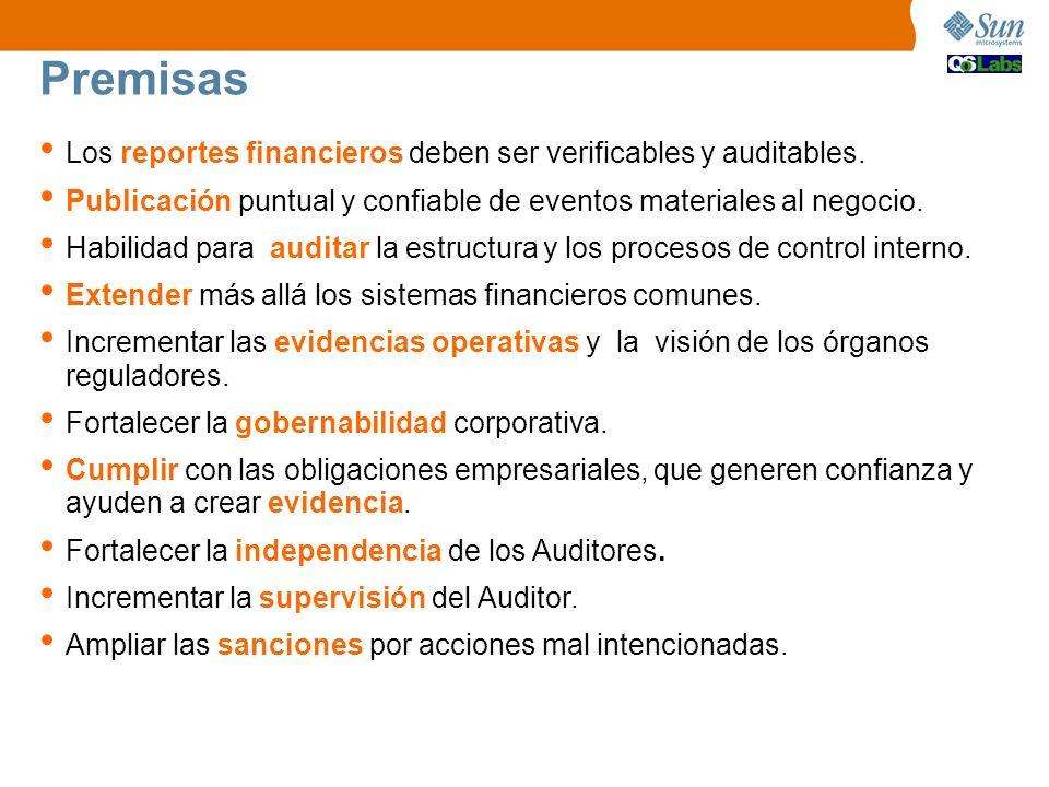 Los reportes financieros deben ser verificables y auditables. Publicación puntual y confiable de eventos materiales al negocio. Habilidad para auditar