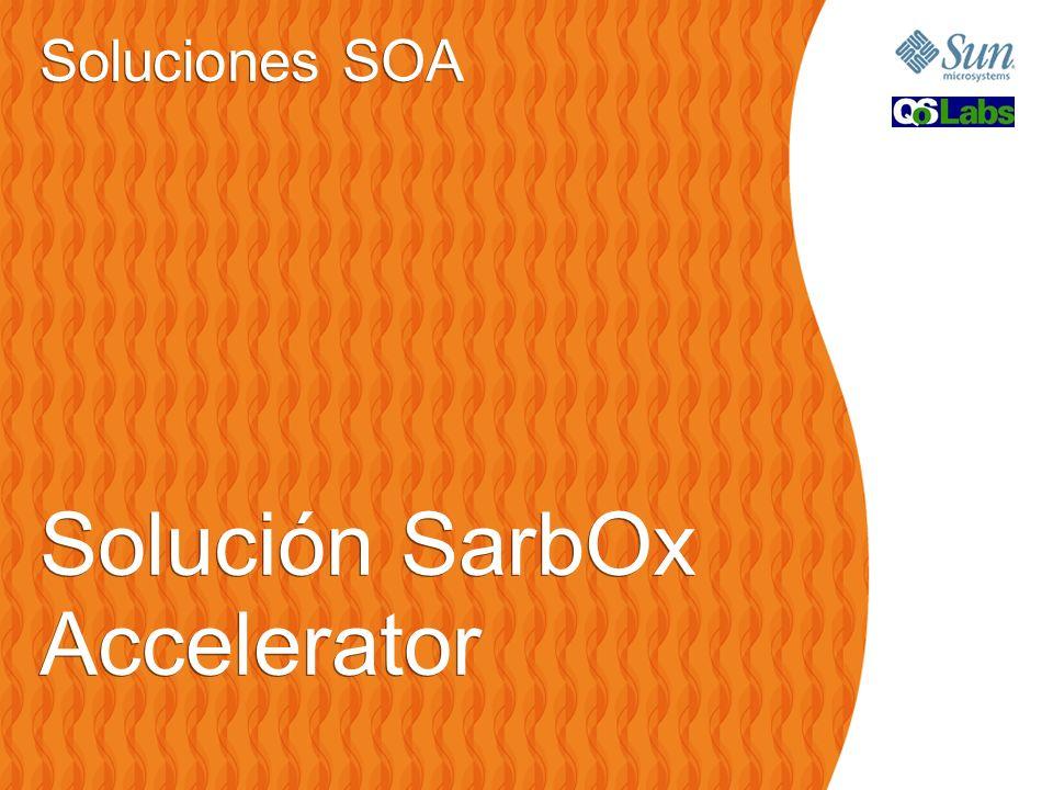 Soluciones SOA Solución SarbOx Accelerator Soluciones SOA Solución SarbOx Accelerator