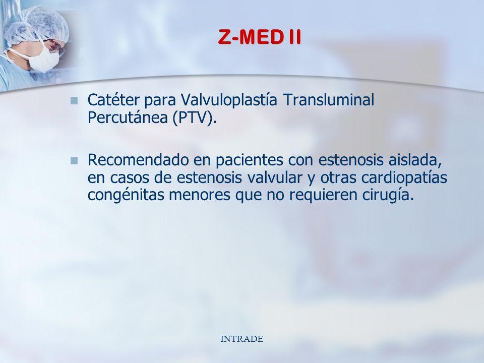 INTRADE Z-MED II Catéter para Valvuloplastía Transluminal Percutánea (PTV).