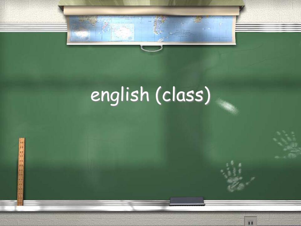 english (class)