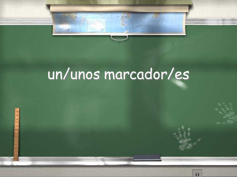 un/unos marcador/es