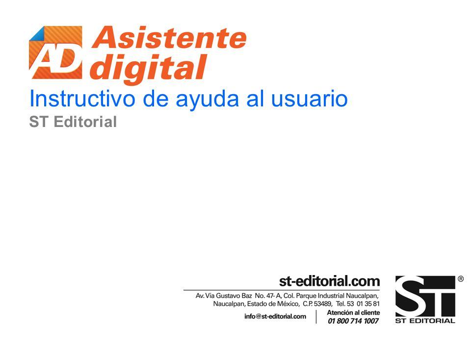Instructivo de ayuda al usuario ST Editorial