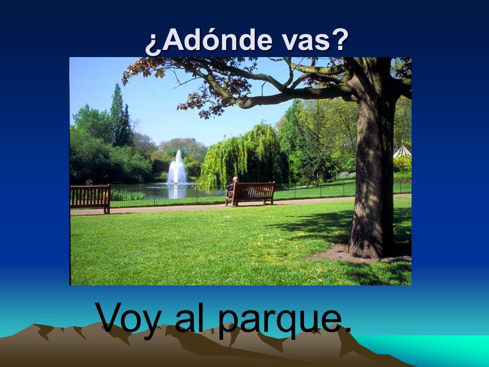 ¿Adónde vas? Voy al parque.