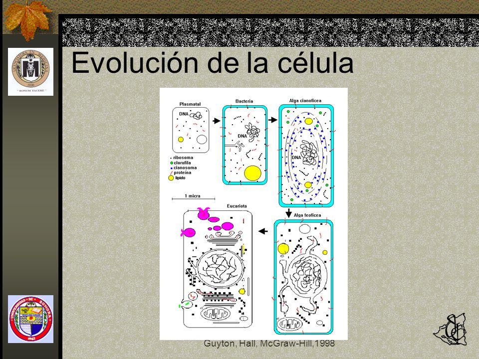 Fisiología y Fisiopatología Guyton, Hall, McGraw-Hill,1998 Evolución de la célula