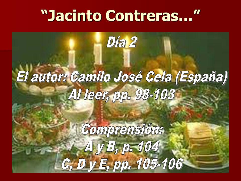 Jacinto Contreras… en resumidas cuentas 1.Jacinto firmó cuando le dieron su paga… 2.