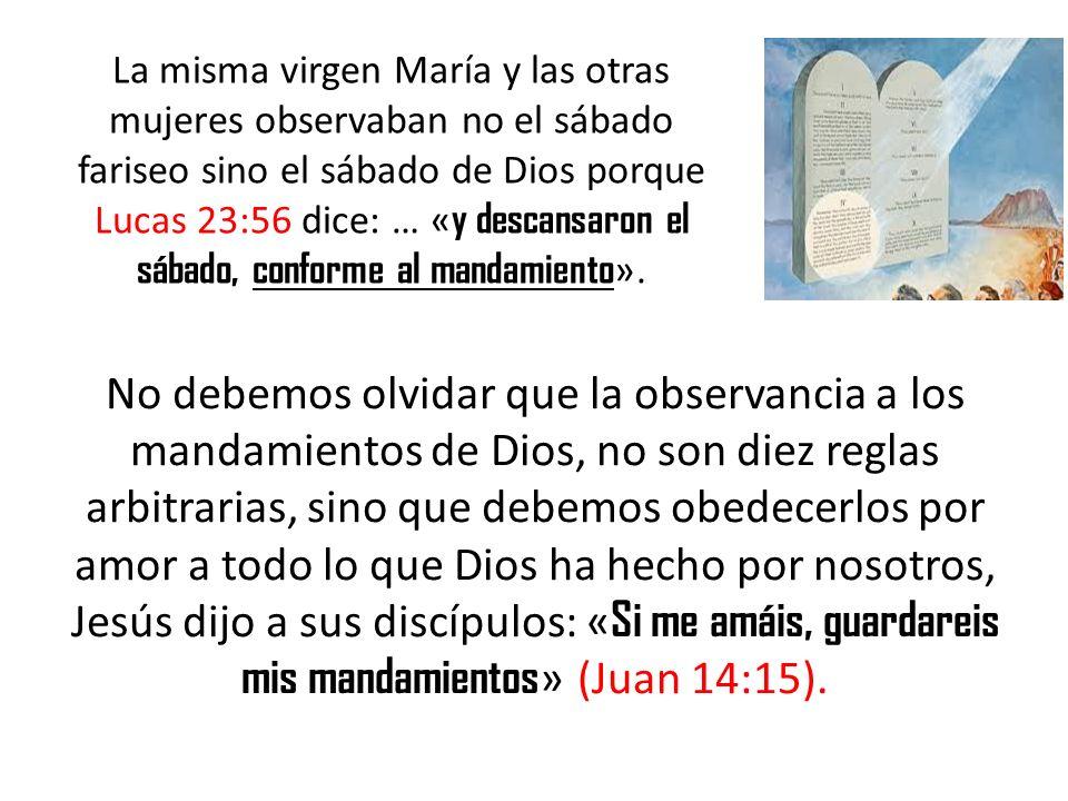 No debemos olvidar que la observancia a los mandamientos de Dios, no son diez reglas arbitrarias, sino que debemos obedecerlos por amor a todo lo que
