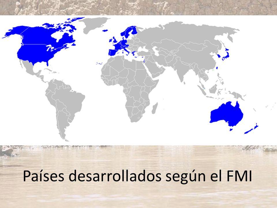 Países desarrollados según el FMI
