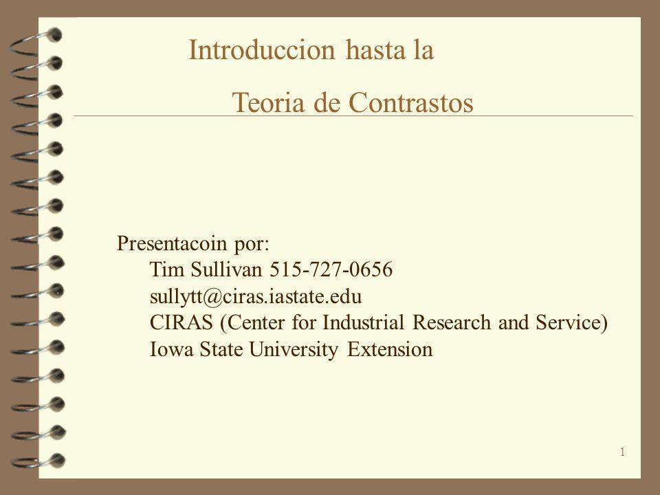 1 Presentacoin por: Tim Sullivan 515-727-0656 sullytt@ciras.iastate.edu CIRAS (Center for Industrial Research and Service) Iowa State University Exten